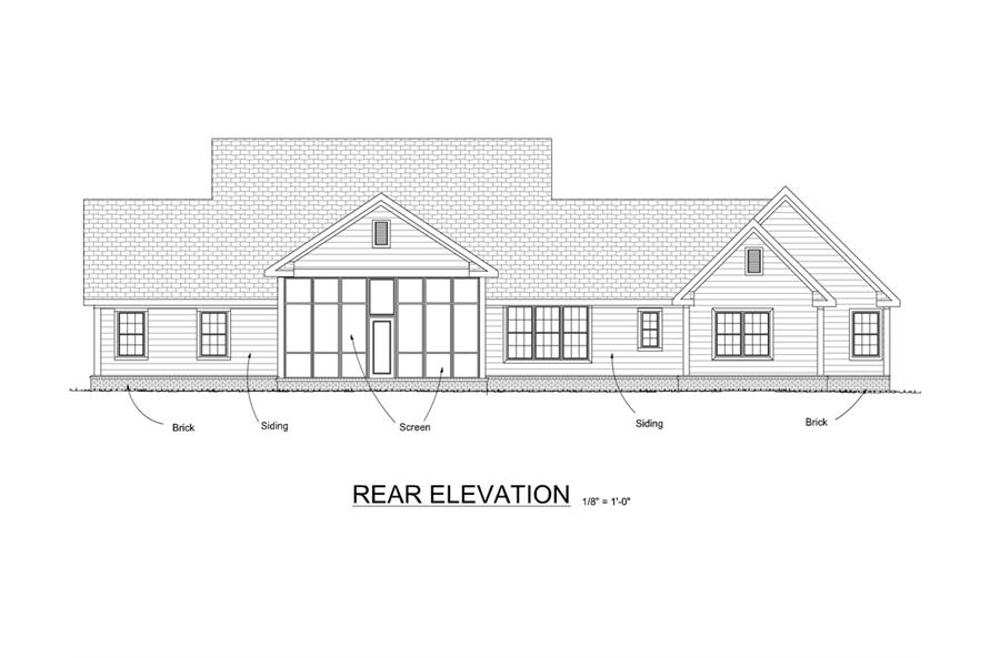 178-1273: Home Plan Rear Elevation