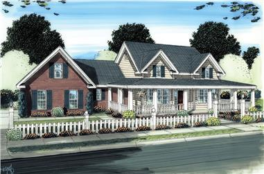4-Bedroom, 2525 Sq Ft Ranch Home Plan - 178-1273 - Main Exterior