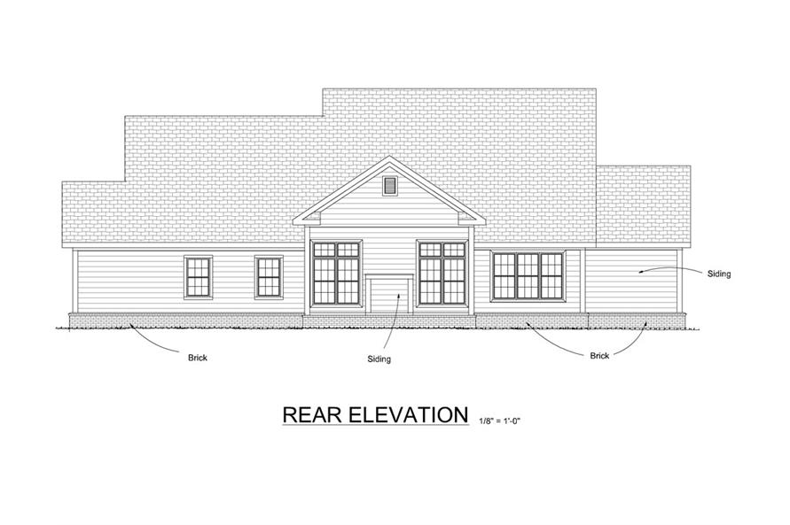 178-1274: Home Plan Rear Elevation