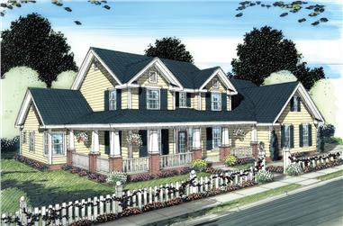 4-Bedroom, 3008 Sq Ft Country Home Plan - 178-1274 - Main Exterior