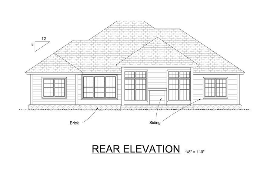 178-1275: Home Plan Rear Elevation