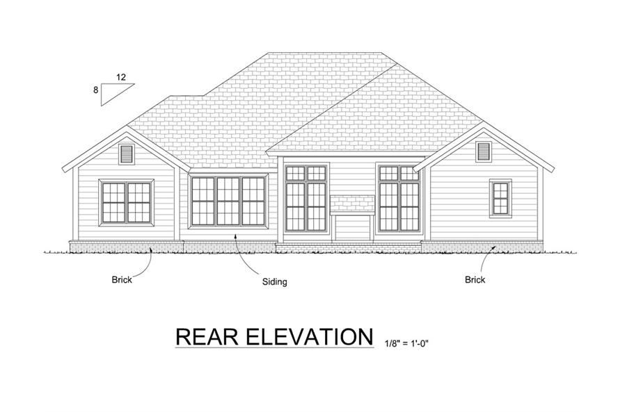 178-1276: Home Plan Rear Elevation