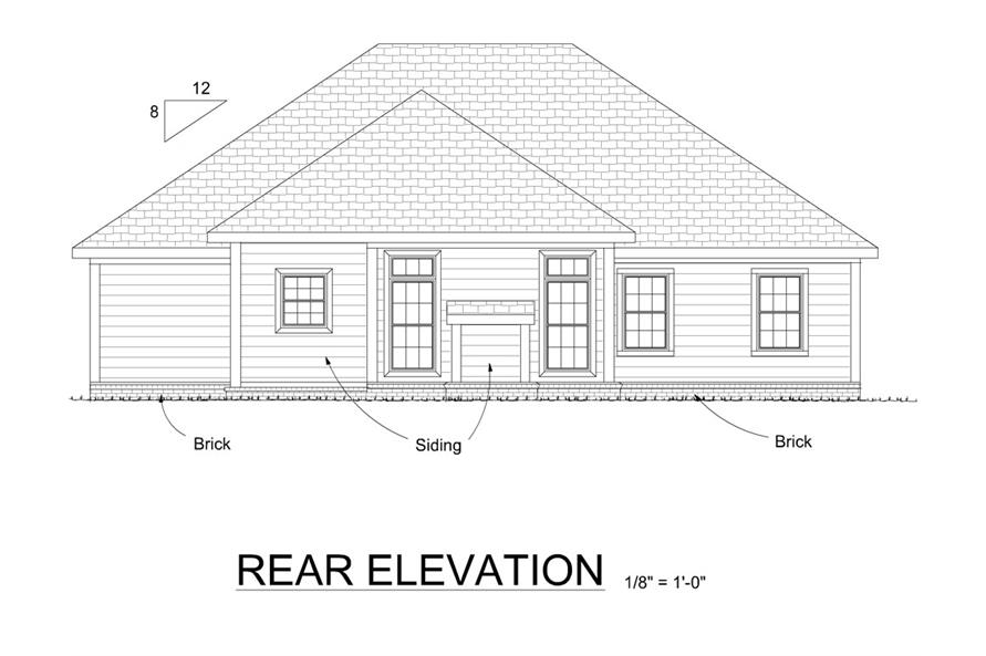 178-1277: Home Plan Rear Elevation
