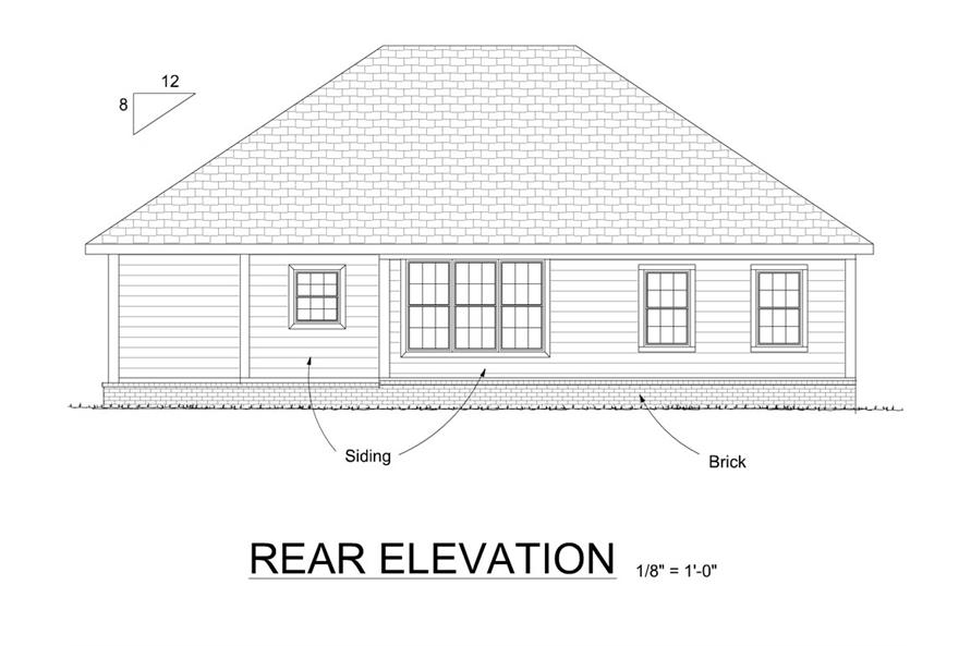 178-1278: Home Plan Rear Elevation