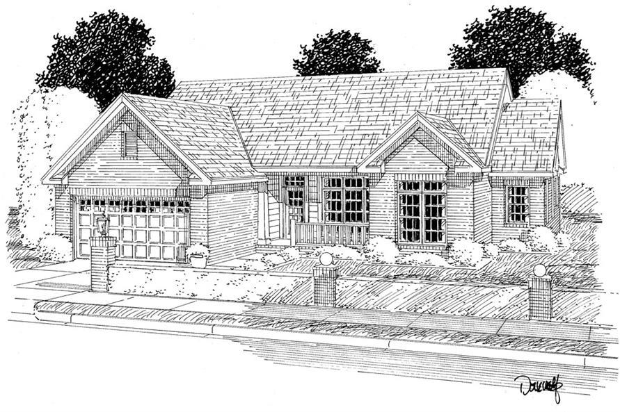 178-1279: Home Plan Rendering