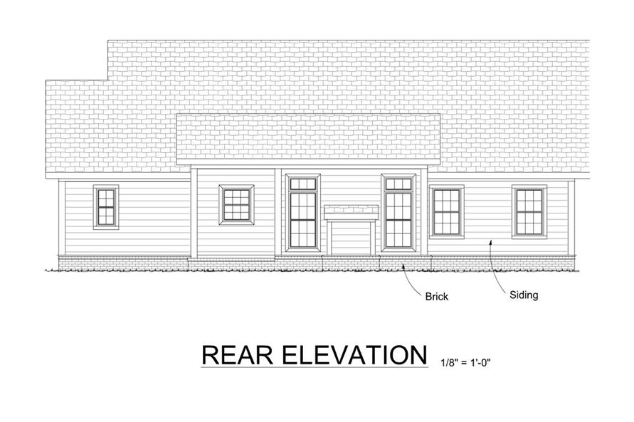 178-1279: Home Plan Rear Elevation