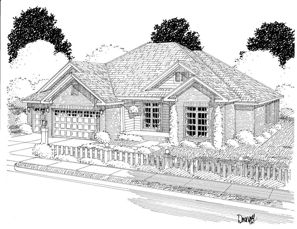 Ranch Home Plan 3 Bedrms 2 Baths 1975 Sq Ft 178 1280