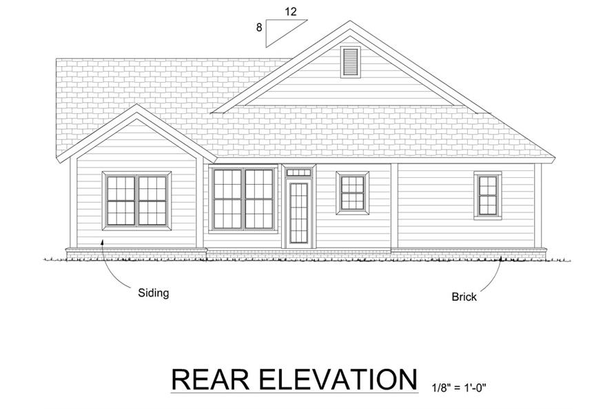 178-1282: Home Plan Rear Elevation