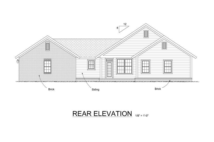 178-1283: Home Plan Rear Elevation