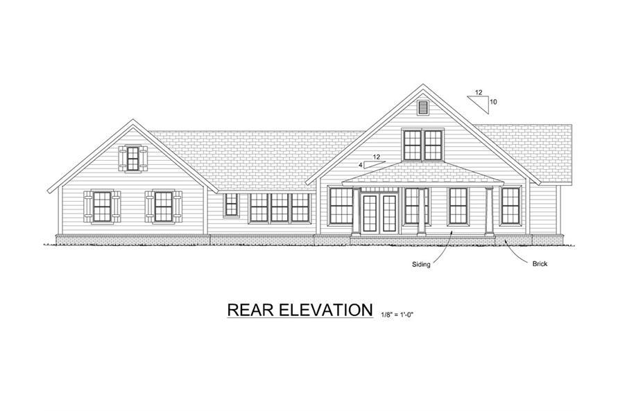 178-1284: Home Plan Rear Elevation