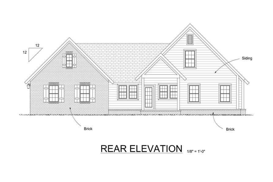 178-1285: Home Plan Rear Elevation