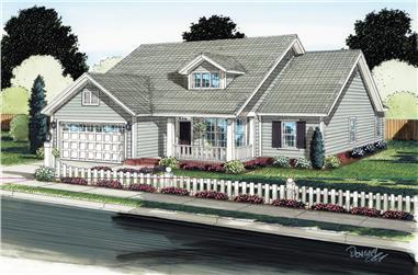 4-Bedroom, 1571 Sq Ft Ranch Home Plan - 178-1289 - Main Exterior