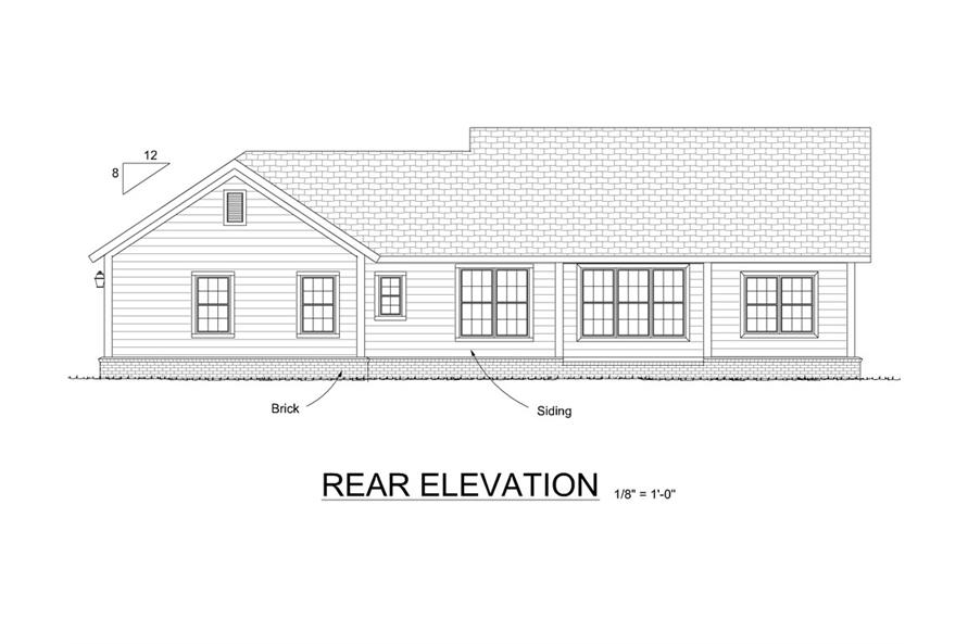178-1293: Home Plan Rear Elevation