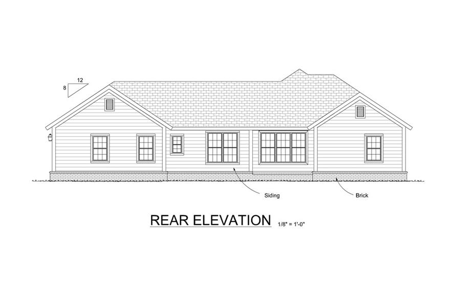 178-1294: Home Plan Rear Elevation