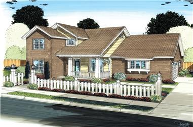 3-Bedroom, 1954 Sq Ft Traditional House Plan - 178-1295 - Front Exterior