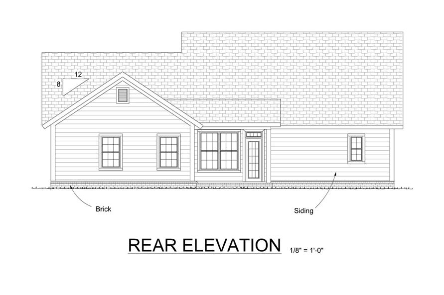 178-1296: Home Plan Rear Elevation