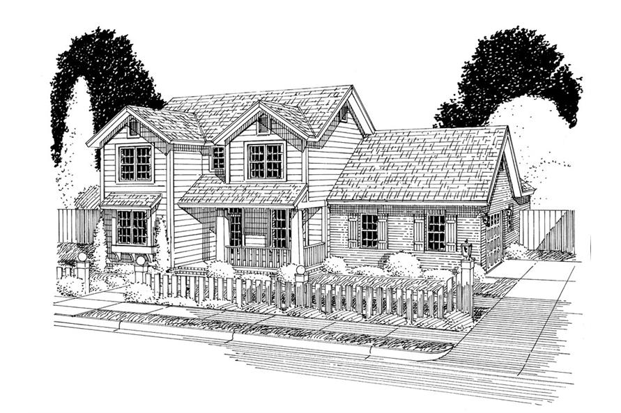 178-1298: Home Plan Front Elevation