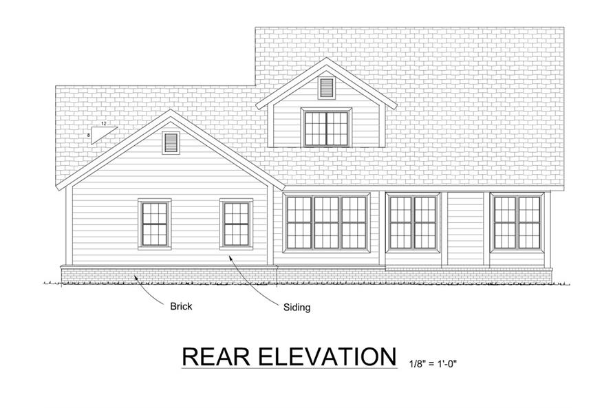 178-1298: Home Plan Rear Elevation