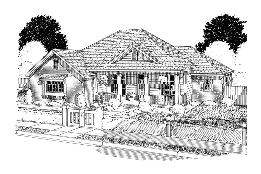 178-1300: Home Plan Rendering
