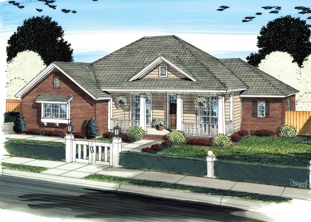 Country House Plan #178-1300: 4 Bedrm, 1884 Sq Ft Home Plan
