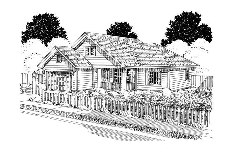 178-1301: Home Plan Rendering