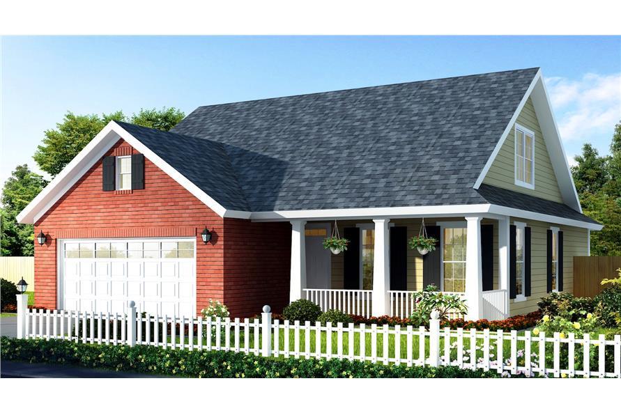 Home Plan Rendering of this 3-Bedroom,1549 Sq Ft Plan -178-1302