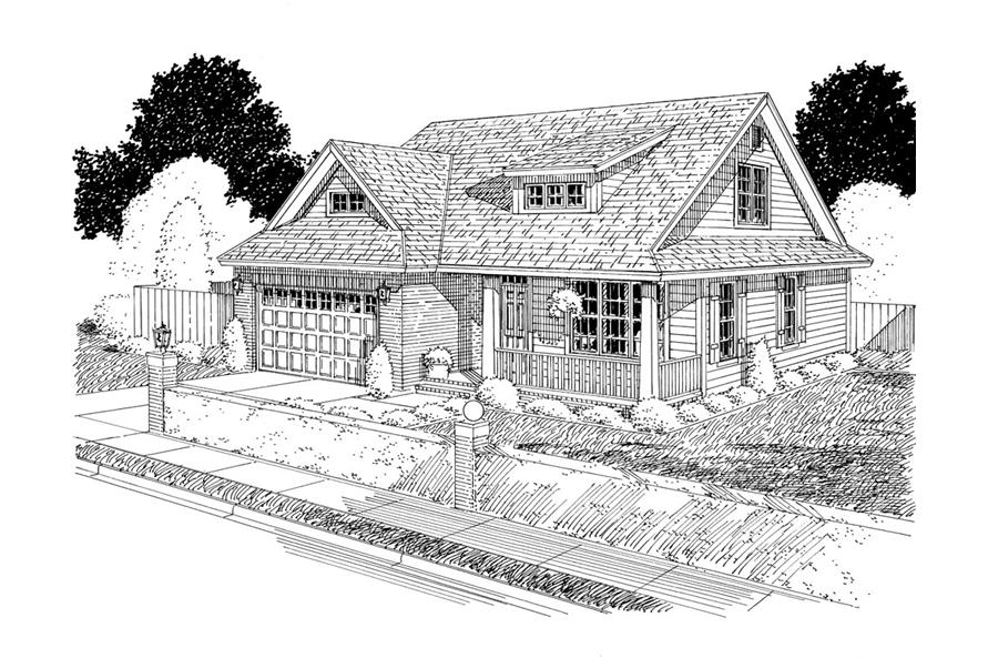 178-1303: Home Plan Rendering