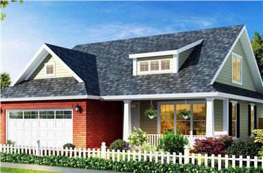 4-Bedroom, 1692 Sq Ft Country House Plan - 178-1303 - Front Exterior