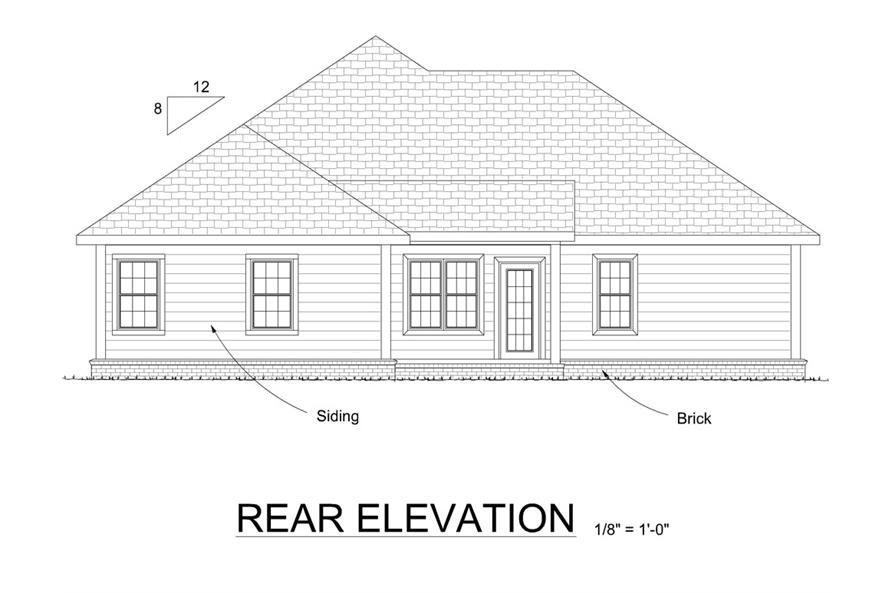 178-1306: Home Plan Rear Elevation