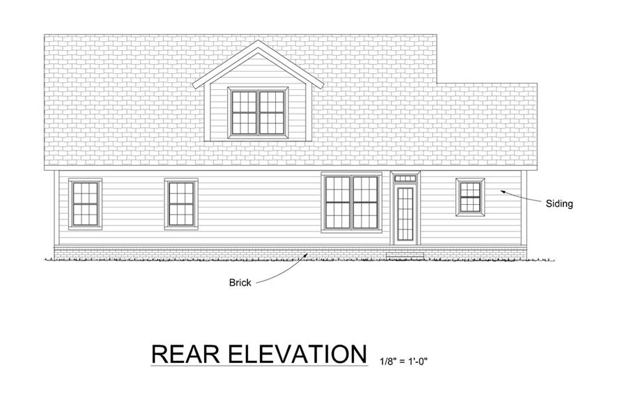 178-1307: Home Plan Rear Elevation