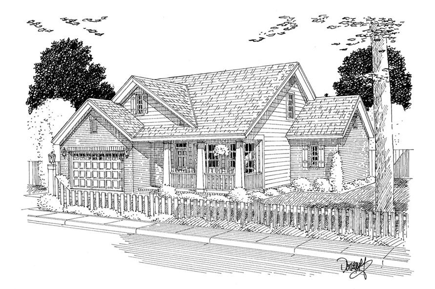 178-1309: Home Plan Rendering