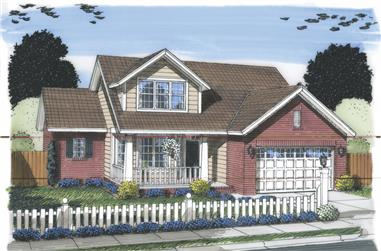 3-Bedroom, 1695 Sq Ft Traditional House Plan - 178-1310 - Front Exterior