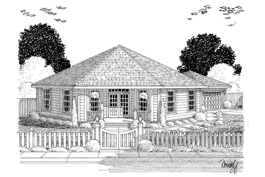 Home Plan Rendering of this 3-Bedroom,1793 Sq Ft Plan -178-1311