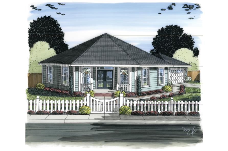 3-Bedroom, 1793 Sq Ft Ranch House Plan - 178-1311 - Front Exterior