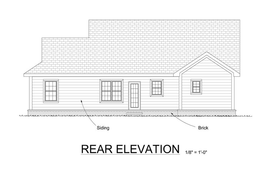 178-1312: Home Plan Rear Elevation