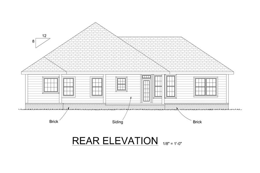 178-1314: Home Plan Rear Elevation