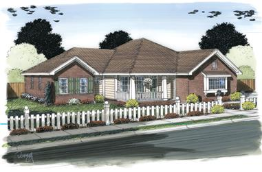 4-Bedroom, 1682 Sq Ft Ranch Home Plan - 178-1314 - Main Exterior
