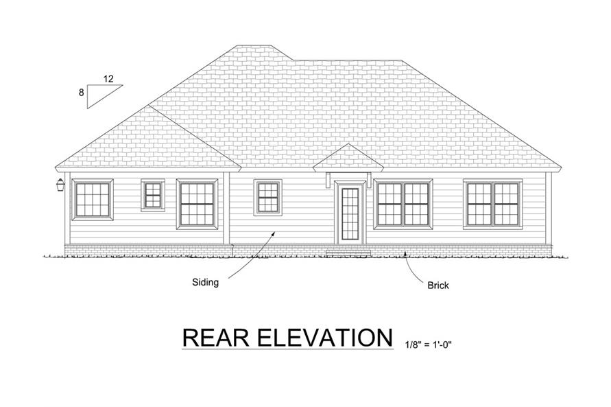 178-1315: Home Plan Rear Elevation