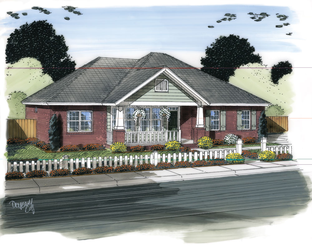 Ranch house plan 178 1315 3 bed 1568 sq ft home for Ranch house plans with sunroom