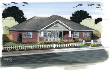 3-Bedroom, 1568 Sq Ft Ranch Home Plan - 178-1315 - Main Exterior