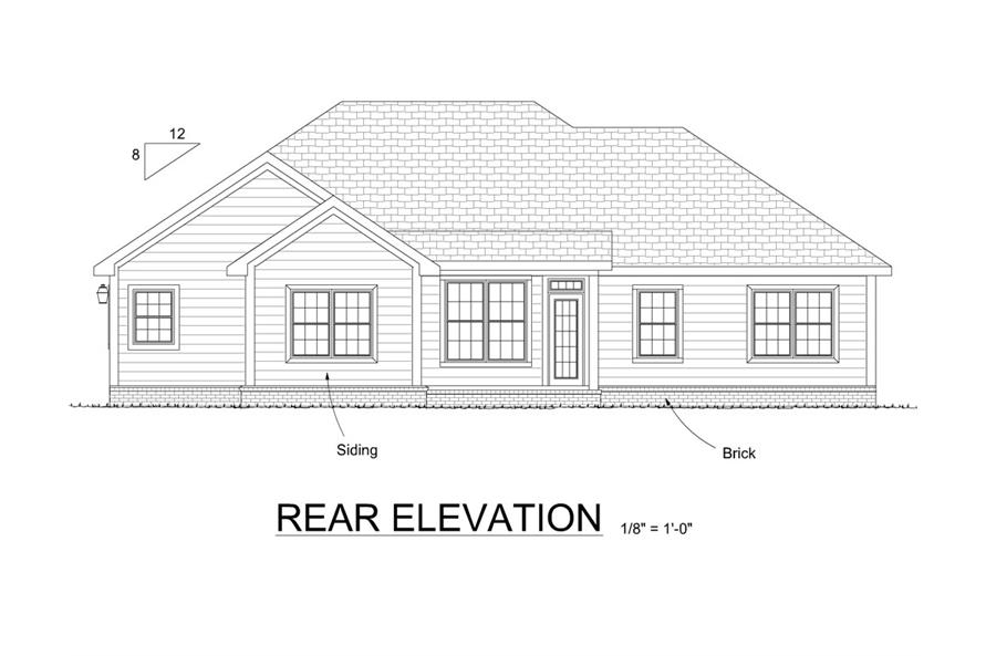 178-1316: Home Plan Rear Elevation