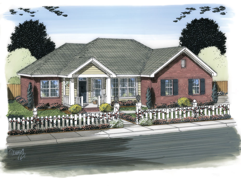 Traditional house plan 178 1316 3 bedrm 1472 sq ft home for Traditional home house plans