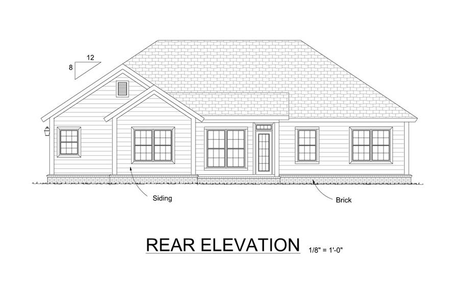 178-1317: Home Plan Rear Elevation