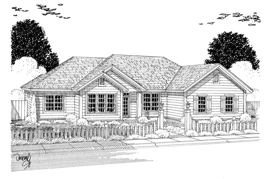 178-1319: Home Plan Rendering