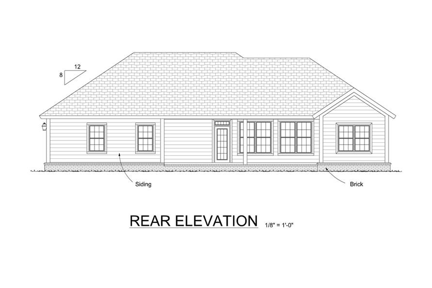 178-1319: Home Plan Rear Elevation