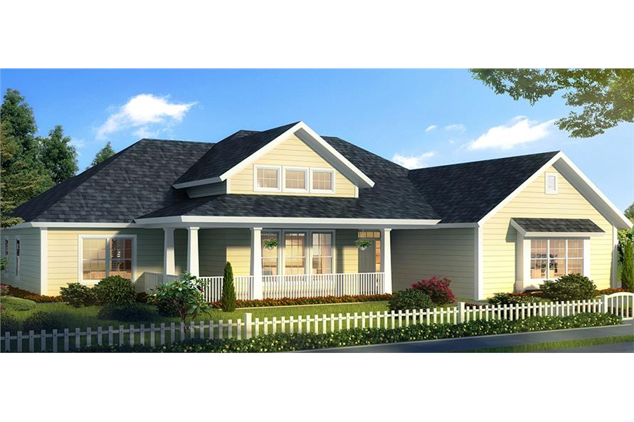 Front elevation of Cottage home (ThePlanCollection: House Plan #178-1320)