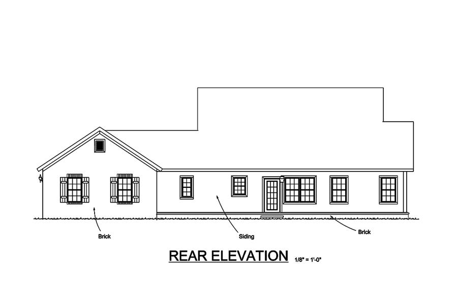 178-1321: Home Plan Rear Elevation