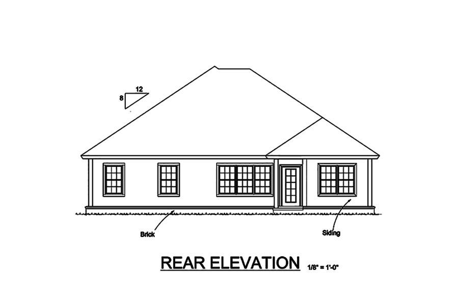 178-1323: Home Plan Rear Elevation