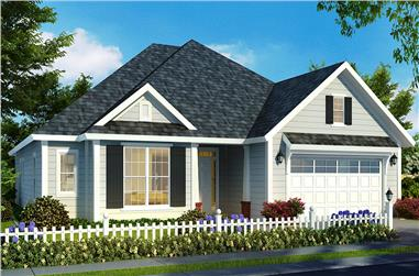 3-Bedroom, 1709 Sq Ft Cottage House Plan - 178-1323 - Front Exterior