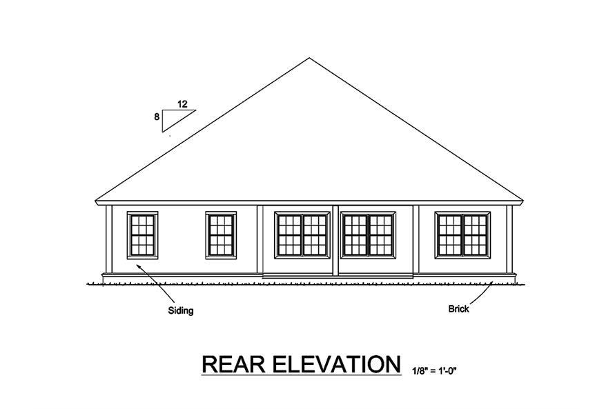 178-1324: Home Plan Rear Elevation